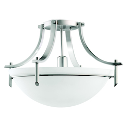 Kichler Kichler 3678Ap Antique Pewter Olympia 1 Light Semi-Flush Indoor Ceiling Fixture