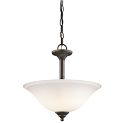 Kichler Two Light Olde Bronze Up Pendant