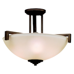 Kichler Three Light Olde Bronze Bowl Semi-Flush Mount