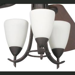 Kichler Three Light Distressed Black Fan Light Kit