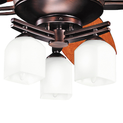 Kichler Three Light Oil Brushed Bronze Fan Light Kit