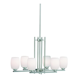 Kichler Kichler 3898Ni Brushed Nickel Eileen 1 Tier Chandelier With 6-Lights