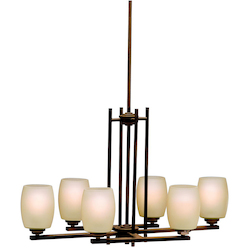 Kichler Six Light Olde Bronze Island Light