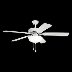 Kichler Three Light White Ceiling Fan