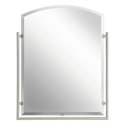 Kichler Brushed Nickel Structures Arched Mirror - 30In. X 24In.