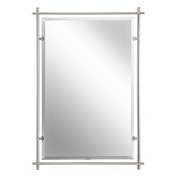 Kichler Brushed Nickel Eileen Rectangle Beveled Framed Mirror