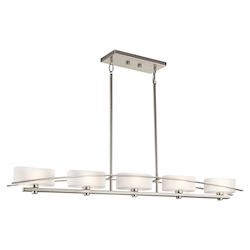 Kichler Five Light Brushed Nickel Island Light