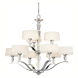 Kichler Kichler 42031Ch Chrome Crystal Persuasion 2-Tier  Chandelier With 9 Lights