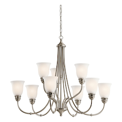 Kichler Kichler 42066Ap Antique Pewter Durham 2-Tier  Chandelier With 9 Lights