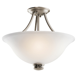 Kichler Kichler 42070Ap Antique Pewter Durham 2 Light Semi-Flush Indoor Ceiling Fixture