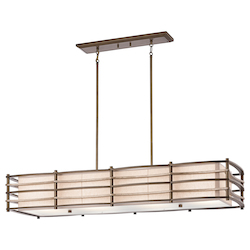 Kichler Cambridge Bronze Moxie Single-Tier Linear Chandelier With 4 Lights