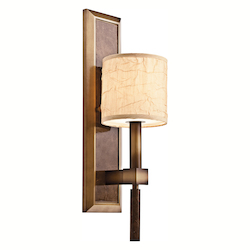 Kichler Cambridge Bronze 1 Light Up Lighting Wall Sconce From The Celestial Collection