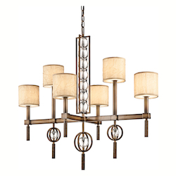 Kichler Kichler 42105Cmz Cambridge Bronze Celestial 2-Tier  Chandelier With 6 Lights