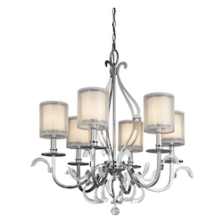 Kichler Kichler 42302Ch Chrome Jardine Single-Tier  Chandelier With 6 Lights