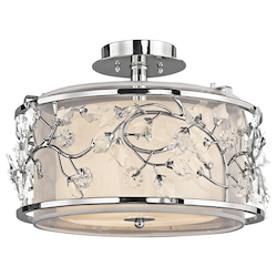 Kichler Chrome Jardine 3 Light Semi-Flush Indoor Ceiling Fixture