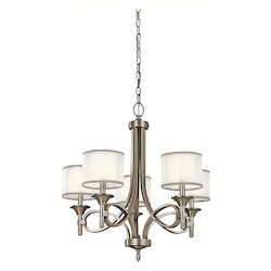 Kichler Kichler 42381Ap Antique Pewter Lacey Single-Tier Chandelier With 5 Lights