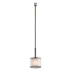 Kichler One Light Mission Bronze Down Mini Pendant