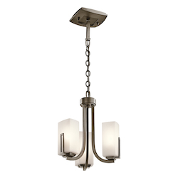 Kichler Kichler 42424Swz Shadow Bronze Leeds Single-Tier Mini Chandelier With 3 Lights