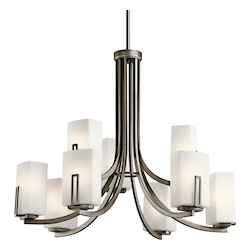 Kichler Nine Light Shadow Bronze Up Chandelier