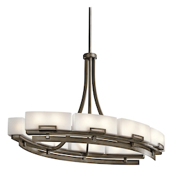 Kichler Twelve Light Shadow Bronze Up Chandelier