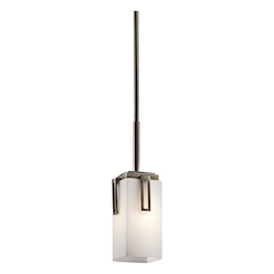 Kichler One Light Shadow Bronze Down Mini Pendant