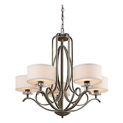 Kichler Kichler 42476Oz Olde Bronze Leighton Single-Tier  Chandelier With 5 Lights