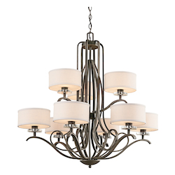 Kichler Kichler 42478Oz Olde Bronze Leighton 2-Tier  Chandelier With 9 Lights