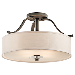 Kichler Olde Bronze Leighton 4 Light Semi-Flush Indoor Ceiling Fixture