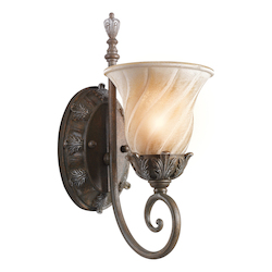 Kichler Legacy Bronze Single Light Up Lighting Wall Sconce From The Sarabella Collection