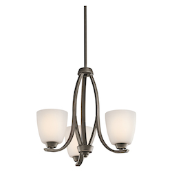 Kichler Three Light Olde Bronze Up Chandelier