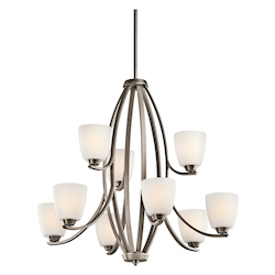 Kichler Kichler 42559Bpt Brushed Pewter Granby 2-Tier  Chandelier With 9 Lights