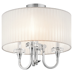 Kichler Chrome Parker Point 3 Light Semi-Flush Indoor Ceiling Fixture