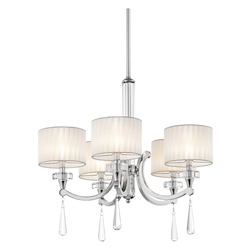 Kichler Kichler 42631Ch Chrome Parker Point Single-Tier  Chandelier With 5 Lights