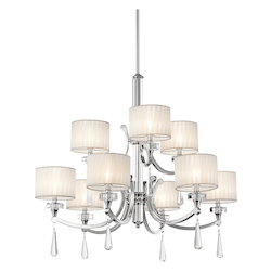 Kichler Kichler 42633Ch Chrome Parker Point 2-Tier  Chandelier With 9 Lights