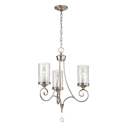 Kichler Kichler 42860Clp Classic Pewter Lara Single-Tier  Chandelier With 3 Lights