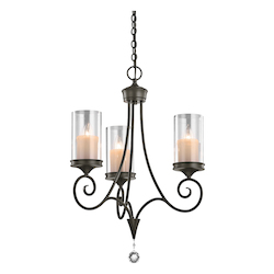 Kichler Three Light Shadow Bronze Up Chandelier