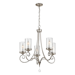 Kichler Kichler 42861Clp Classic Pewter Lara Single-Tier  Chandelier With 5 Lights