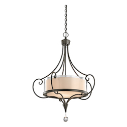 Kichler Three Light Shadow Bronze Up Pendant