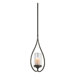 Kichler One Light Shadow Bronze Up Mini Pendant