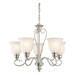 Kichler Kichler 42906Ni Brushed Nickel Tanglewood Single-Tier  Chandelier With 5 Lights