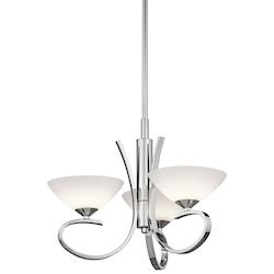Kichler Kichler 43020Ch Chrome Brooklands Single-Tier  Chandelier With 3 Lights