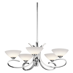 Kichler Kichler 43021Ch Chrome Brooklands Single-Tier  Chandelier With 5 Lights