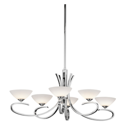 Kichler Kichler 43022Ch Chrome Brooklands Single-Tier  Chandelier With 6 Lights