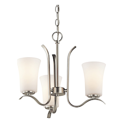 Kichler Kichler 43073Ni Brushed Nickel Armida Single-Tier Mini Chandelier With 3 Lights
