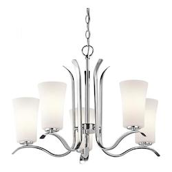 Kichler Five Light Chrome Up Chandelier
