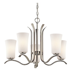 Kichler Kichler 43074Ni Brushed Nickel Armida Single-Tier  Chandelier With 5 Lights