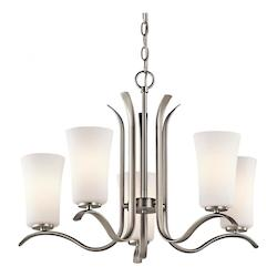 Kichler Kichler 43074Nifl Brushed Nickel Armida Single-Tier  Chandelier With 5 Lights