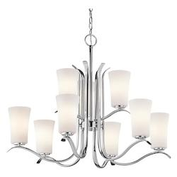 Kichler Nine Light Chrome Up Chandelier