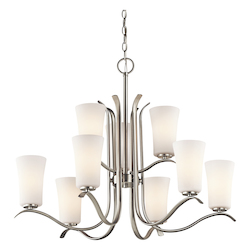 Kichler Kichler 43075Ni Brushed Nickel Armida 2-Tier  Chandelier With 9 Lights