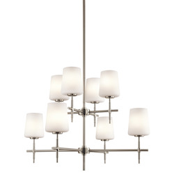 Kichler Kichler 43087Ni Brushed Nickel Arvella 2-Tier  Chandelier With 8 Lights